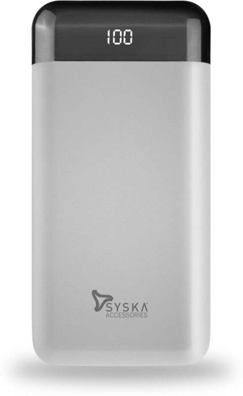Syska 20000 mAh Power Bank (Fast Charging, 10 W)(White, Lithium Polymer)