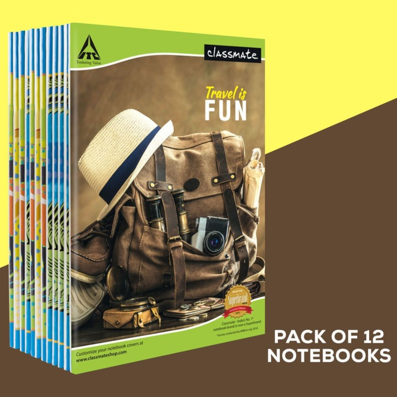 Classmate Notebook A4 Notebook Single Line 172 Pages(Multicolor, Pack of 6)