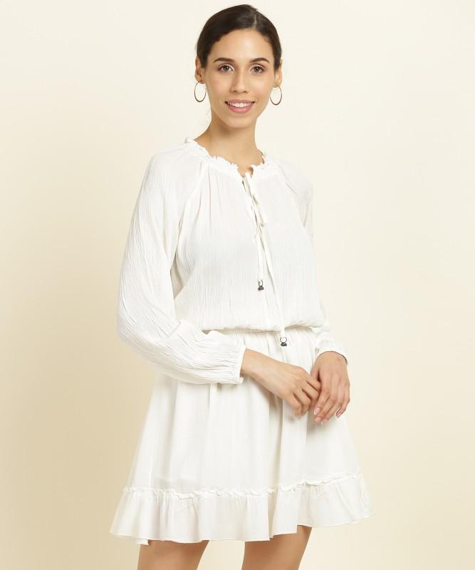 Forever 21 Women A-line White Dress