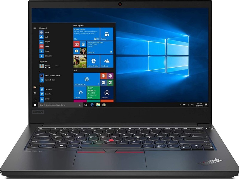 Lenovo ThinkPad Core i7 10th Gen - (16 GB/1 TB HDD/256 GB SSD/Windows 10 Home) ThinkPad E14 Thin and Light Laptop(14 inch, Black, 1.69 kg, With MS Office)