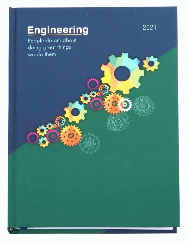 """Global Diaries Executive Theme """"Engineering - Dream>Create>Achieve"""" '2021' New Year Diary B5 Diary Single Ruled 320 Pages(Multicolor)"""