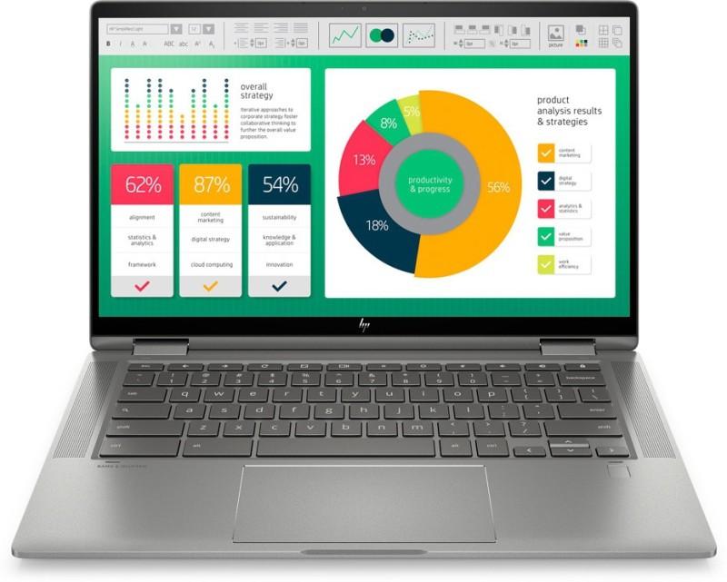 HP Chromebook x360 Core i3 10th Gen - (8 GB/128 GB EMMC Storage/Chrome OS) 14c-ca0005TU 2 in 1 Laptop(14 inch, Mineral Silver, 1.65 kg)
