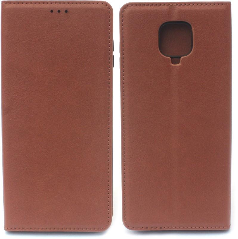 Fashion Flip Cover for Poco M2 Pro (Brown)(Brown)