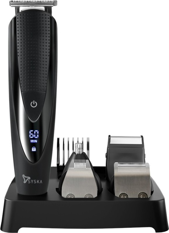Syska HT4500K Runtime: 60 min Trimmer for Men(Black)