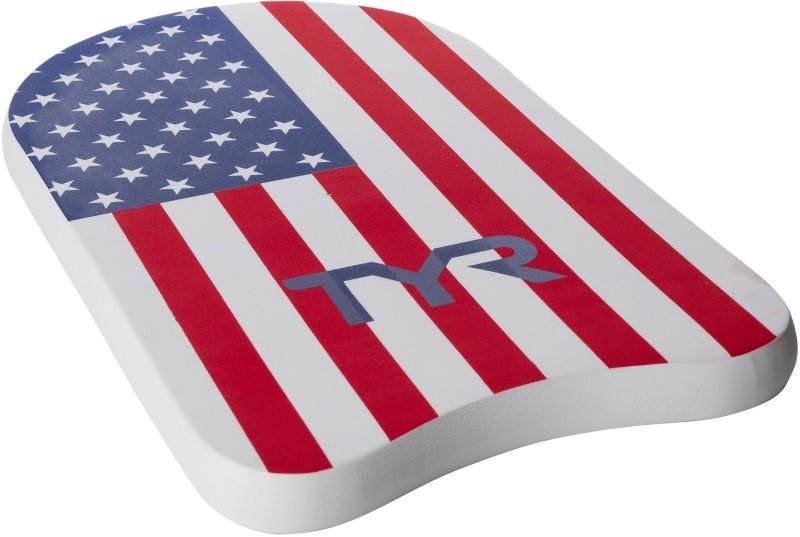 TYR USA Kickboard(White, Red)