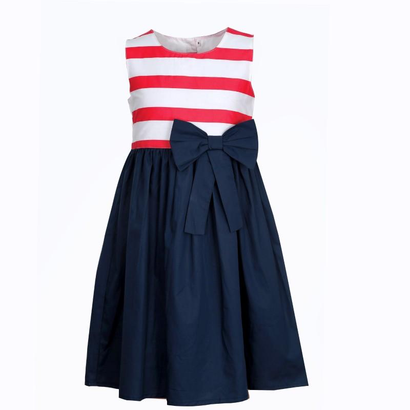 Bella Moda Girls Midi/Knee Length Party Dress(Blue, Sleeveless)