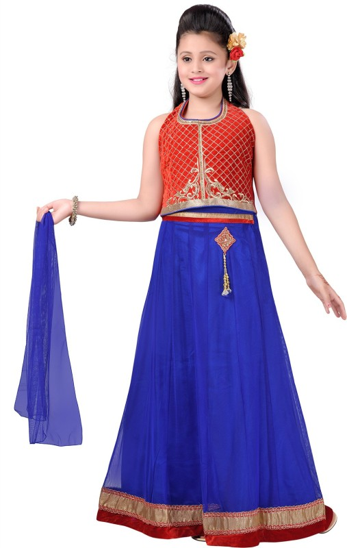Aarika Girls Lehenga Choli Ethnic Wear Self Design Lehenga, Choli and Dupatta...