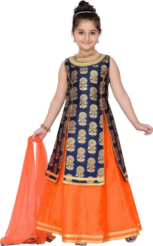 Adiva Girls Lehenga Choli Ethnic Wear, Western Wear Self Design Lehenga, Choli...