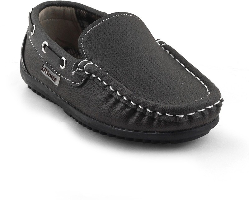 Kittens Boys Slip on Loafers(Brown)