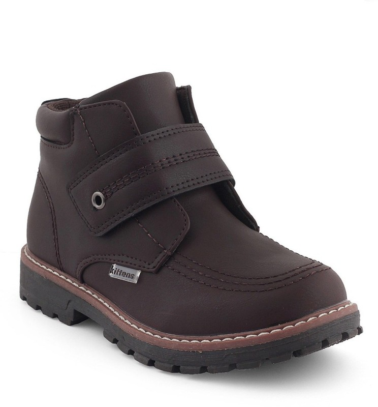 Kittens Boys Lace Casual Boots(Brown)
