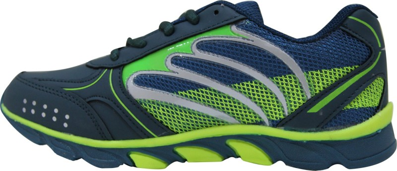 Columbus Boys Lace Running Shoes(Green)