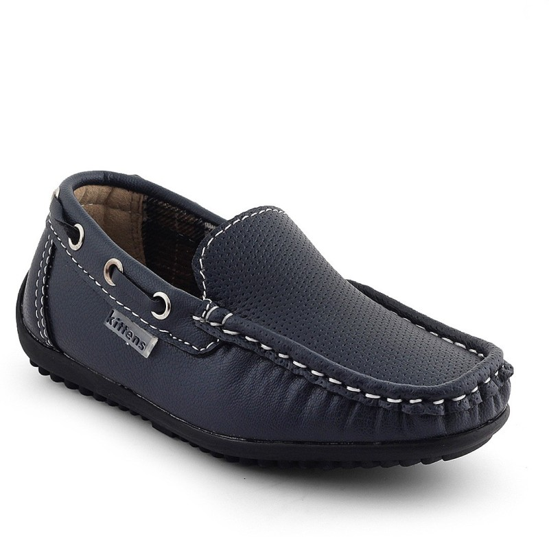 Kittens Boys Slip on Loafers(Blue)