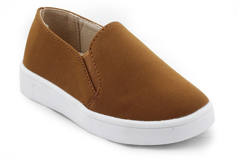 Kittens Boys Slip on Loafers(Beige)