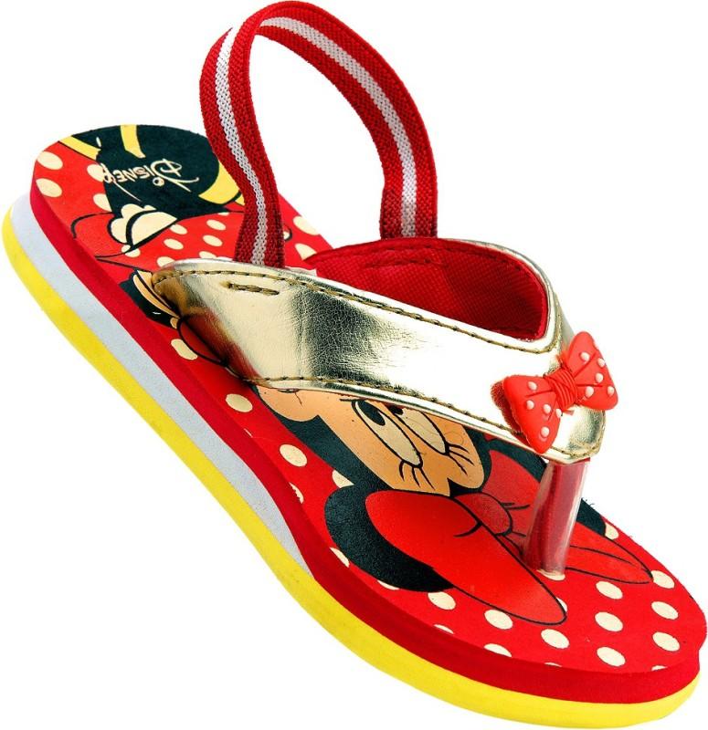 Disney Boys & Girls Slipper Flip Flop(Red)