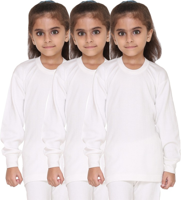Vimal Top For Girls(White, Pack of 3)