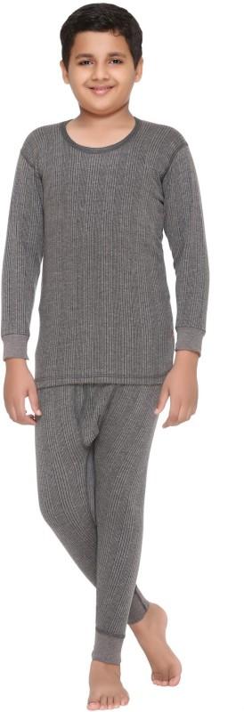 Vimal Top - Pyjama Set For Boys(Grey, Pack of 1)