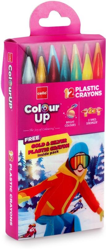 cello ColourUp Plastic Crayon Tic Tac Pouch(Multicolor)
