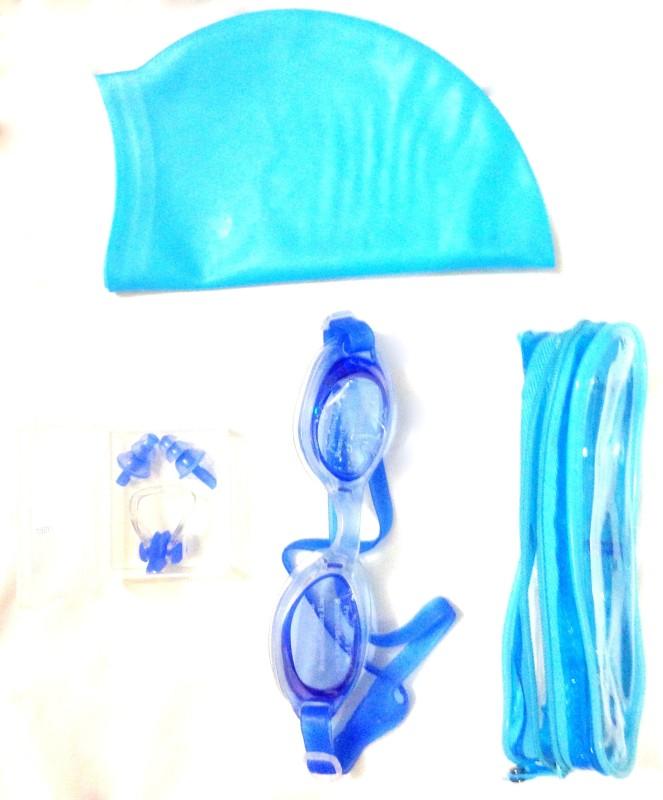 Vinto Swimming Combo 1 Cap, 1 Goggle, 1 Ear plug, 1 Nose plug Swimming Kit