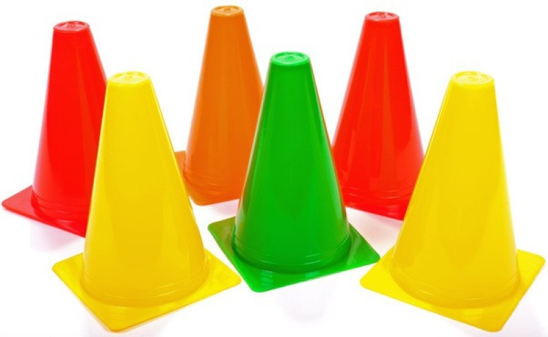 Sahni Sports Training Cones Space Marker 6 Inch (Set of 6) Football Kit