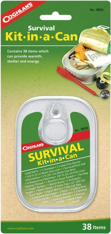 Coghlans Survival Kit in a Can Camping Kit