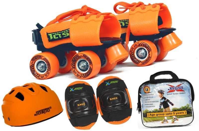Jaspo Halloween Eco junior combo(skates+helmet+knee+bag)suitable for age upto 5 years Skating Kit