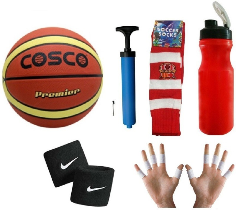 Cosco Premier BasketBall (Size-5) Combo Basketball Kit