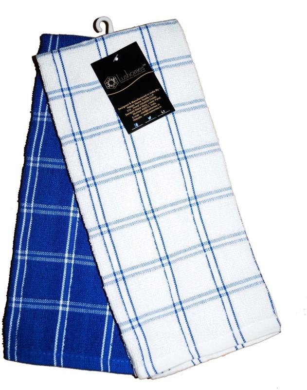 Lushomes Blue Cotton Kitchen Linen Set(Pack of 2)