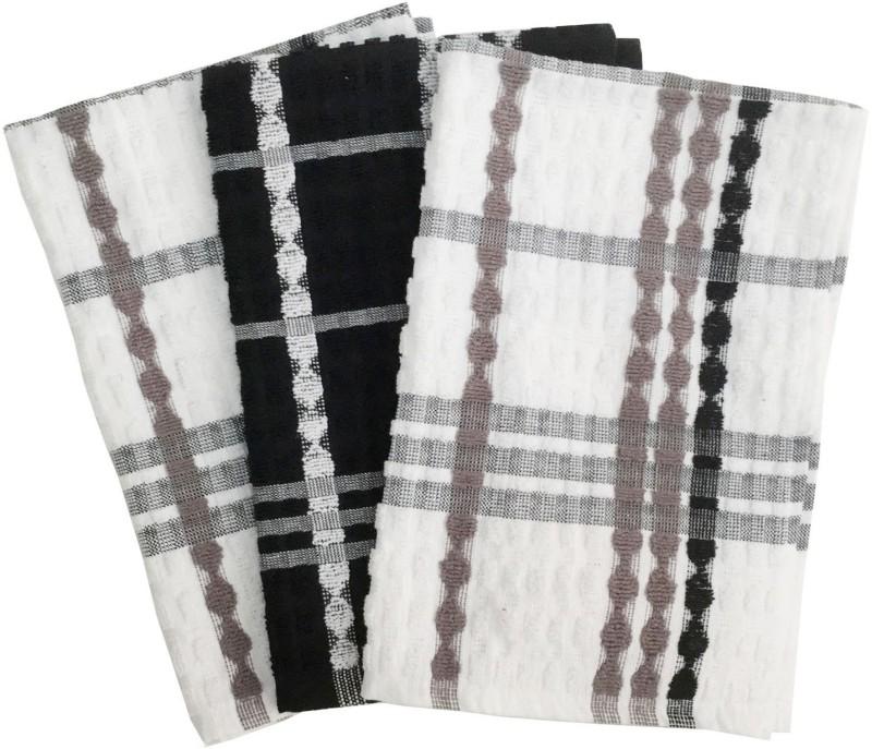Lushomes Black Cotton Kitchen Linen Set(Pack of 3)