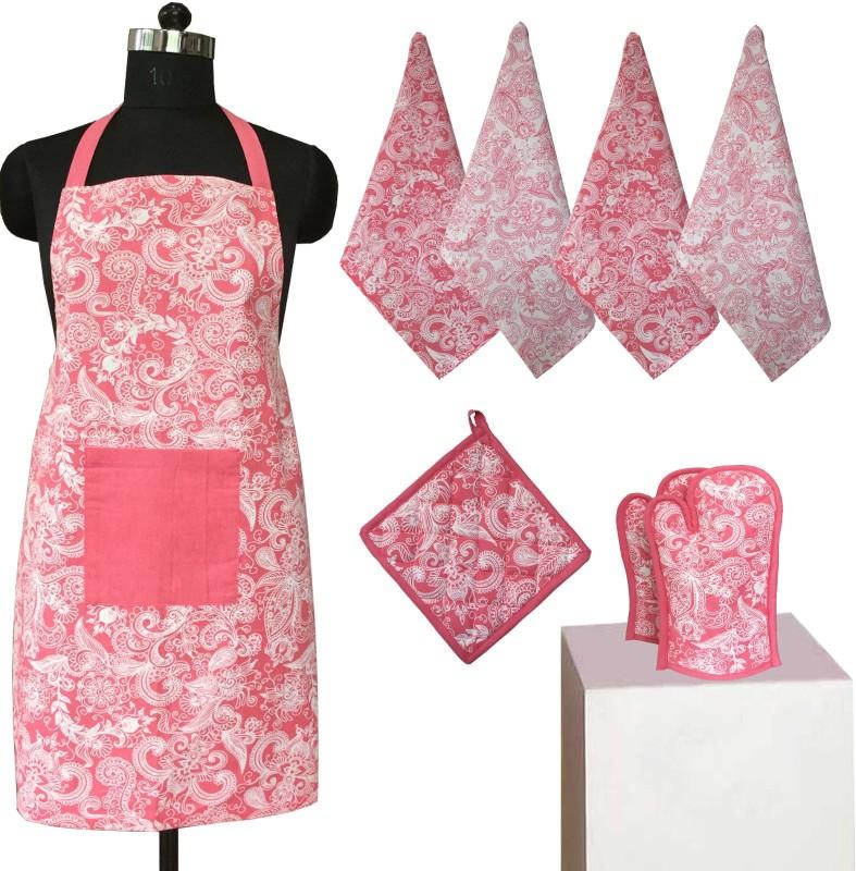 Lushomes Multicolor Cotton Kitchen Linen Set(Pack of 8)