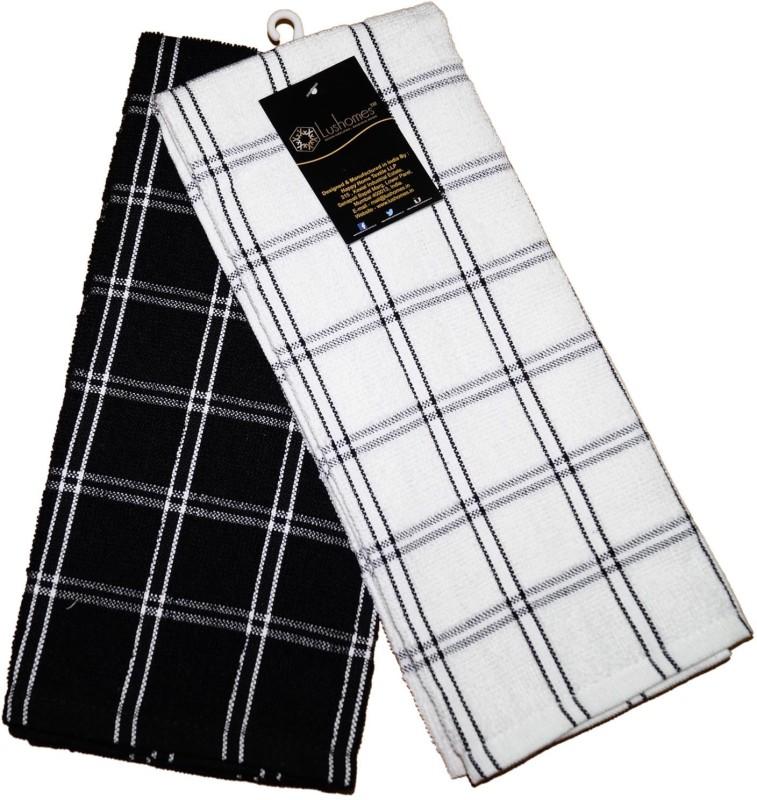 Lushomes Black Cotton Kitchen Linen Set(Pack of 2)