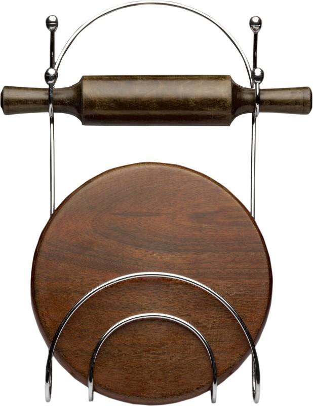 Erbanize Premium Chakla Belan Stand Steel Kitchen Rack(Silver)