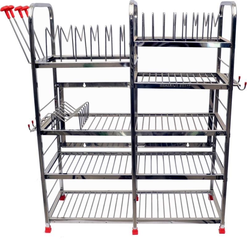 Maharaja Stainless Steel Kitchen Rack(Silver)