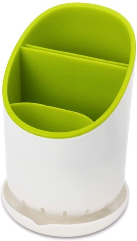 MK Cutlery Drainer and Organizer With Knife Draining Slot Plastic Kitchen Rack(White, Green)