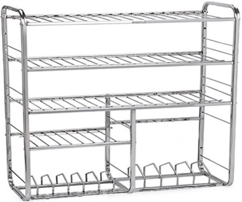Krishna Mudular Stainless Steel Kitchen Rack(Steel)