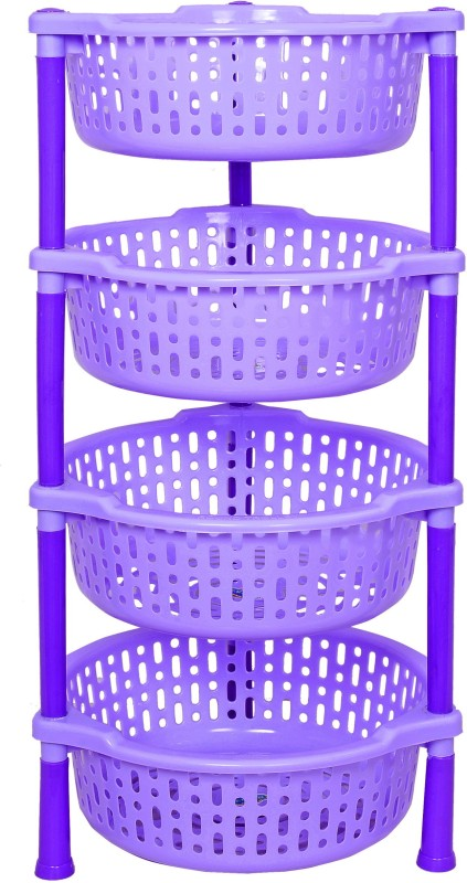 Navkar-Cp Plastic Kitchen Rack(Blue)