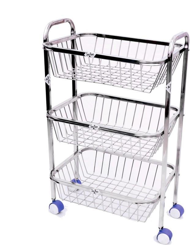 zecado-ktsq3sh1315sq-stainless-steel-kitchen-trolley