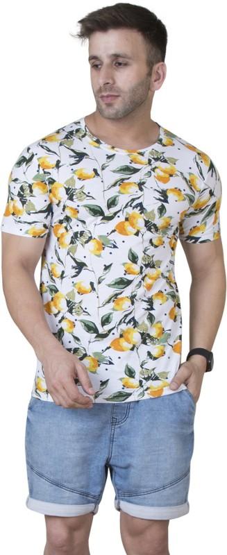 Veirdo Printed Men Round Neck White T-Shirt