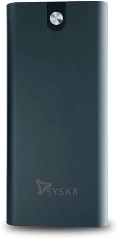 Syska 20000 mAh Power Bank (18 W, Fast Charging)(Midnight Blue, Lithium Polymer)