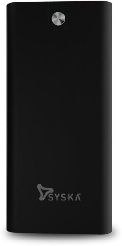 Syska 20000 mAh Power Bank (18 W, Fast Charging)(Pearl Black, Lithium Polymer)