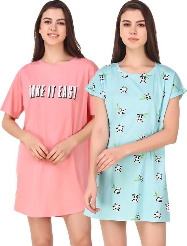 Masha Women Nightshirts(Multicolor)