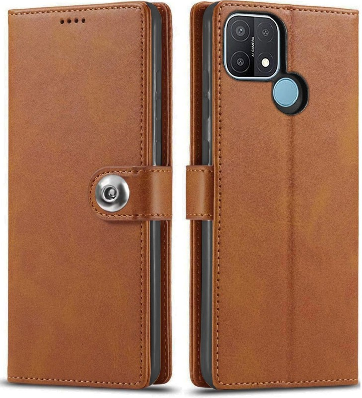 SHINESTAR. Back Cover for Oppo A15, Oppo A15s(Brown)