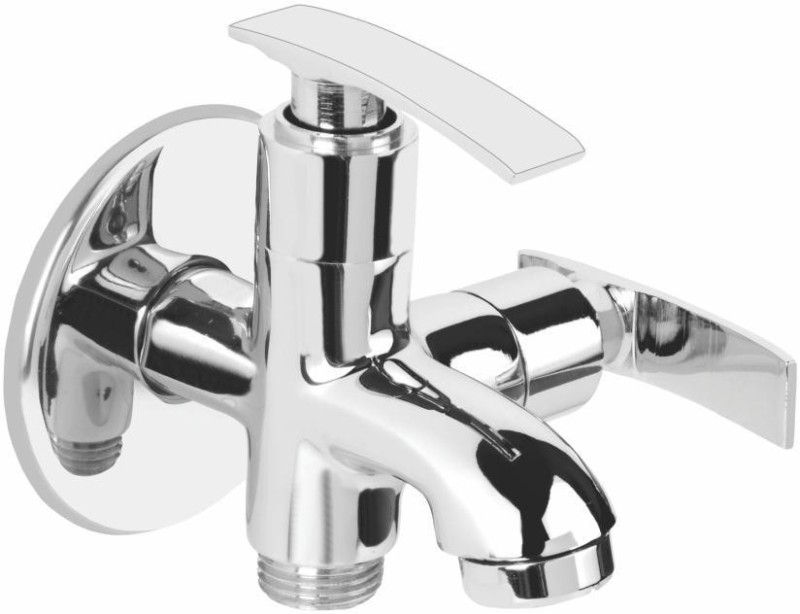 Vviya Angle Cock/Tap Brass Metal, Chrome Platting Luxurious Aggle Cock With Foam Flow for Kitchen/Bathroom Angle Cock Faucet(Wall Mount Installation Type)
