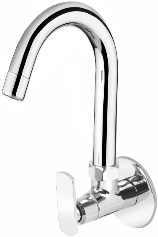 Vviya Chrome Platting Luxurious Bib Tap Bathroom & Kitchen Bib Tap with Foam Flow Bib Tap Faucet(Wall Mount Installation Type)