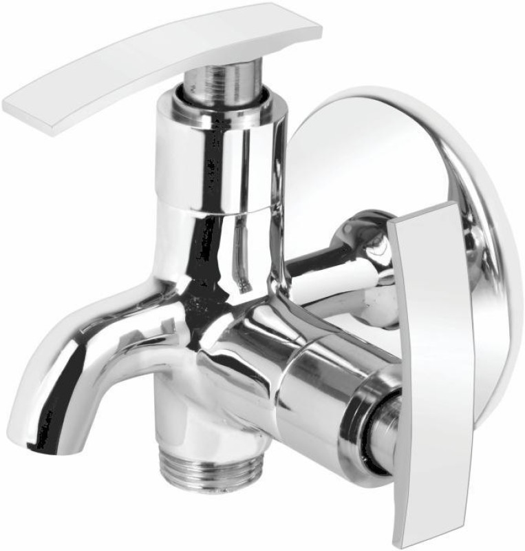 Vviya Brass Metal With Chrome Platting Luxurious Bib Tap with Foam Flow Bathroom, Kitchen Angle Cock Faucet(Wall Mount Installation Type)