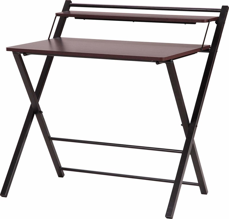 InnoFur Meleti Engineered Wood Study Table(Free Standing, Finish Color - Brown, Pre-assembled)