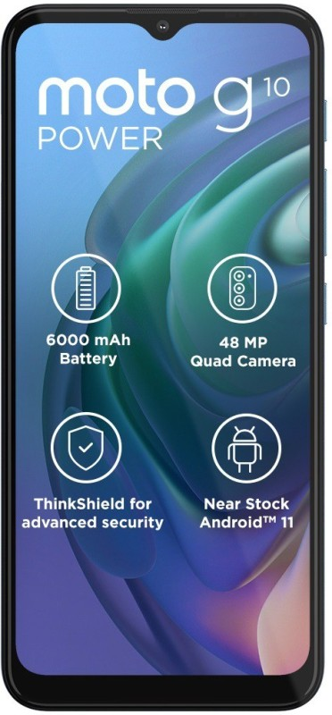 MOTOROLA G10 Power (Aurora Grey, 64 GB)(4 GB RAM)