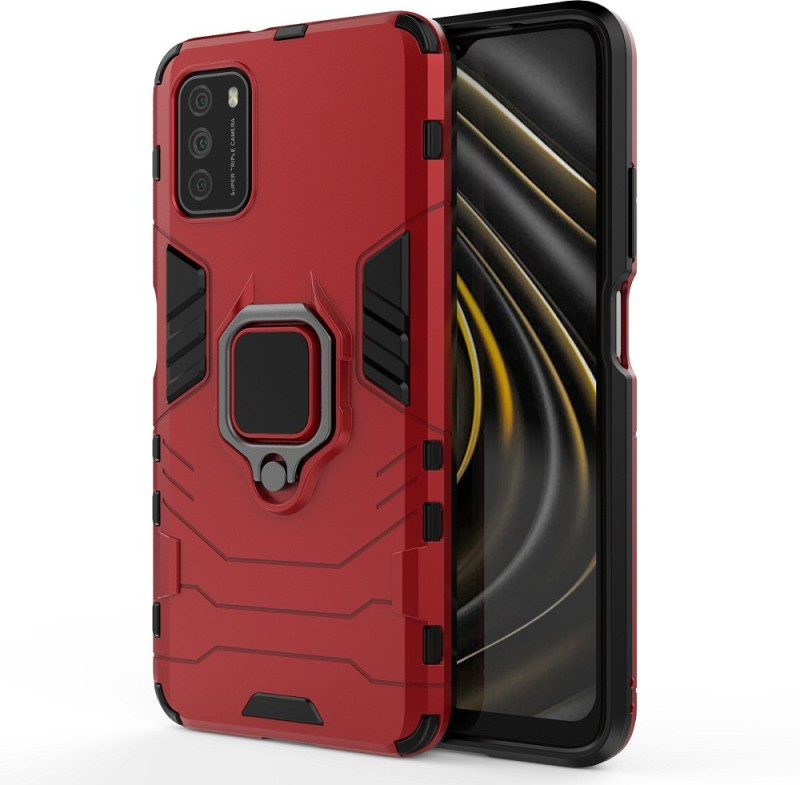 Vikeko Back Cover for POCO M3, Redmi 9 Power(Red, Shock Proof)