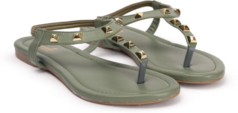 Jade Women Green Flats
