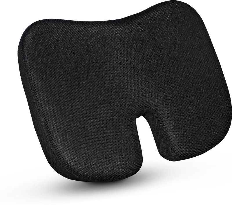 godryft Non-Slip Orthopaedic Coccyx Seat Cushion – For Tailbone & Sciatica Pain Relief Thigh Support