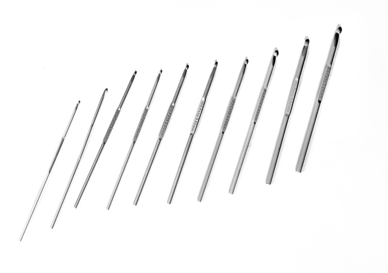 pony crochet hooks, 13 cm , 2.5mm, size no 6 to 14, pack of 10 Knitting Pin(Pack of 10)
